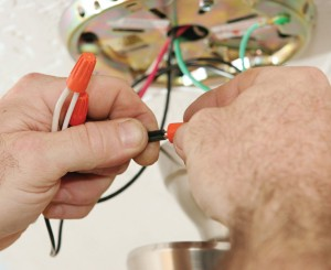 Electrician-connecting-wires
